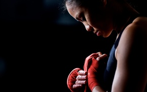 Picture girl, sport, fight