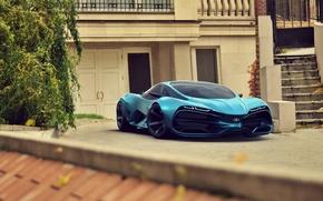 Picture Concept, Car, Lada, Blue, Front, 2014, Raven