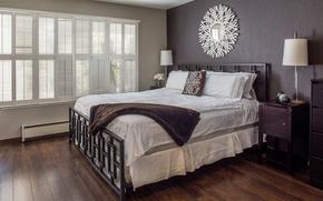 Picture design, comfort, style, tree, bed, mirror, floor, bedroom