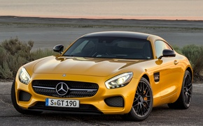 Picture yellow, Mercedes Benz, Amg, Gt1