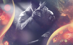 Picture color, face, gun, weapons, Wallpaper, Call of Duty, Black Ops 2