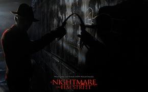 Picture hat, knives, Freddie Krueger, a nightmare on elm street