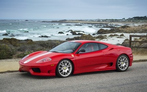 Picture Ferrari, Red, 360, sea
