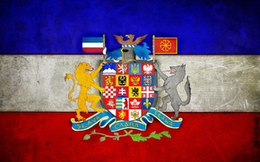 Wallpaper flag, coat of arms, pan-Slavic