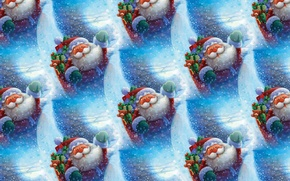 Picture background, mood, holiday, texture, gifts, New year, Santa Claus