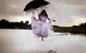 Picture dream, rain, Rainy Day, surrealism, fine art photography