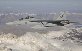 Wallpaper cabin, CF-18, mountains, fighter, pilot, flight, multipurpose, Hornet
