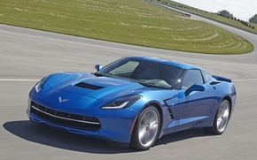 Picture auto, speed, track, Corvette, Chevrolet, Stingray