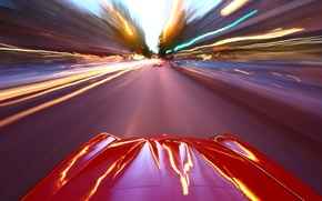 Picture road, machine, auto, the city, lights, Wallpaper, speed, wallpaper, cars, riding