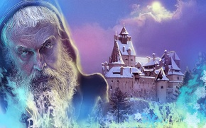 Picture fantasy, the sorcerer, the guardian, artist Sergey Sidenko