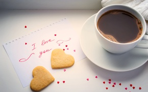 Picture heart, coffee, Cup, love, heart, beans, coffee