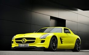 Picture SLS E-celle, 1920x1200 cars, Mercedes benz