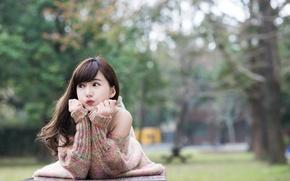 Wallpaper summer, Asian, face, mood, hair