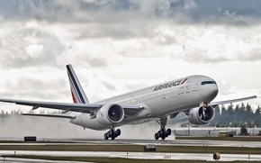 Picture clouds, Boeing, the plane, Boeing, 777, Air France, boeing 777