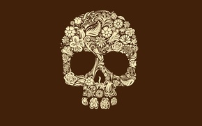 Wallpaper minimalism, patterns, 2560 x 1600, minimal walls, skull