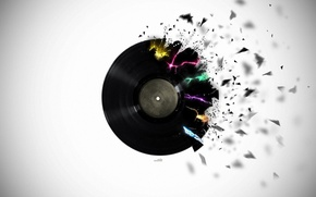 Picture Black, Desktop, Record, Black, Wallpapers, Different, Wallpaper, Broken, Cracked, Shattered, Vinyl