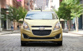 Picture city, speed, Chevrolet, Red, Chevy, speed, 2013, spark