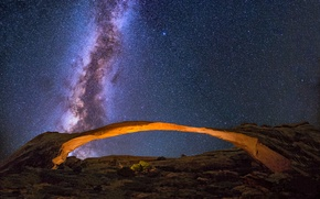 Picture space, stars, arch, The Milky Way, secrets