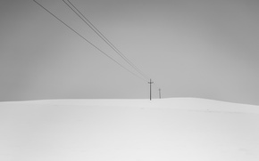 Picture field, background, power lines