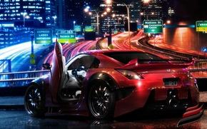 Wallpaper red, Nissan, 350Z