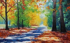 Wallpaper ART, FIGURE, ARTSAUS, MT WILSON AUTUMN
