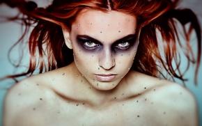 Picture girl, portrait, makeup, rhinestones, Diamonds are forever