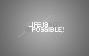 Picture text, meaning, by Robin de Blanche, life Is Possible