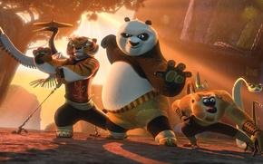 Wallpaper mantis, monkey, crane, tigress, snake, Kung fu Panda 2, Kung Fu Panda 2, the furious ...
