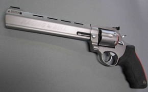 Picture silver, red, gun, logo, black, weapon, bull, revolver, Taurus, well-designed, manufactured in Brazil, The Taurus …