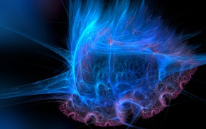 Wallpaper color, smoke, fractal, light, gas, pattern