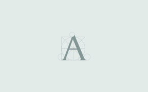 """Picture grey, minimalism, Background, font, Pacholi, letter """"A"""""""