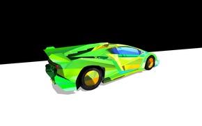 Picture abstraction, minimalism, Lamborghini