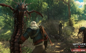 Picture swords, the Witcher, killer, monster, DLC, The Witcher 3: Wild Hunt, The Witcher 3: Wild …