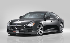 Picture black, Maserati, Quattroporte, car, Novitec