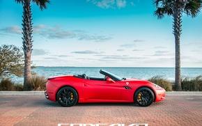Picture machine, auto, Ferrari, auto, California, side, Wheels, Concave, Matte Red