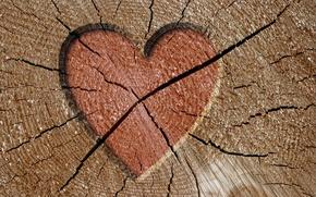 Wallpaper tree, cracked, heart