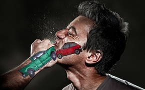 Picture SQUIRT, MALE, FACE, BLOW, CLASH, FIST