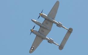 Wallpaper airplane, aviation, Lockheed P-38 Lightning