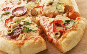 Picture food, vegetables, pizza