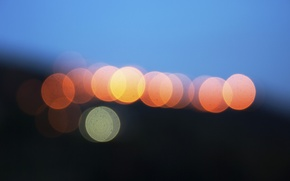 Picture lights, twilight, bokeh, globes