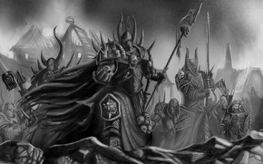 Picture weapons, armor, armor, swords, warhammer 40k, Tzeentch, followers, A Thousand Sons, Chaos, Horde