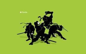 Wallpaper ipod, apple, headphones, ninja, tmnt, turtles, iPod, Teenage Mutant Ninja Turtles