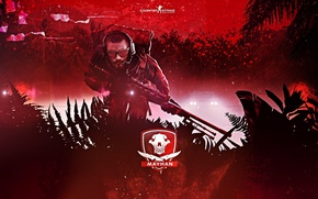 Picture machine, leaves, paint, icon, skull, man, logo, headphones, glasses, knives, backpack, rifle, counter-strike, global offensive, …