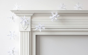 Wallpaper holiday, Snowflakes, decoration