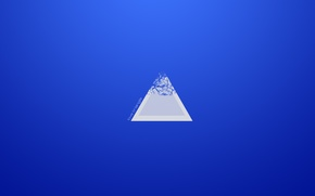 Picture white, void, blue, Triangle