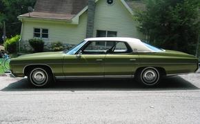 Picture green, green, Chevrolet, chevrolet, saloon, sedan, caprice, 1973, oldtimer, Caprice