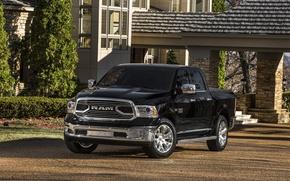Picture Dodge, Black, 4x4, PickUp, RAM 1500, Laramie Limited Crew Cab