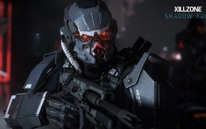 Picture battlefield, game, PS4, nanosuit, Killzone, assault rifle, Killzone Shadow Fall, combat, PlayStation, Helghast, gun, weapon, ...