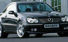 Picture black, car, Mercedes, coupe, CLK, clk