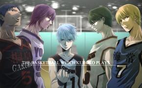 Picture sport, glasses, team, shackle, Kise Ryouta, Kuroko Tetsuya, kuroko's basketball, Kuroko from Basket, Aomine Daiki, …